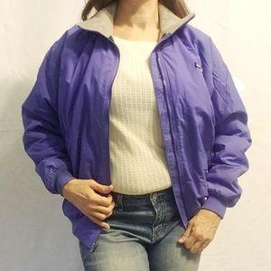 Patagonia Vintage 90s Fleece Lined Purple Coat